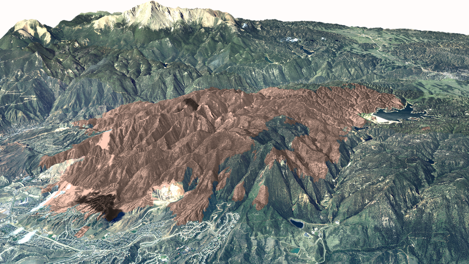 Waldo Canyon Fire 3d View Ctm Image Gallery